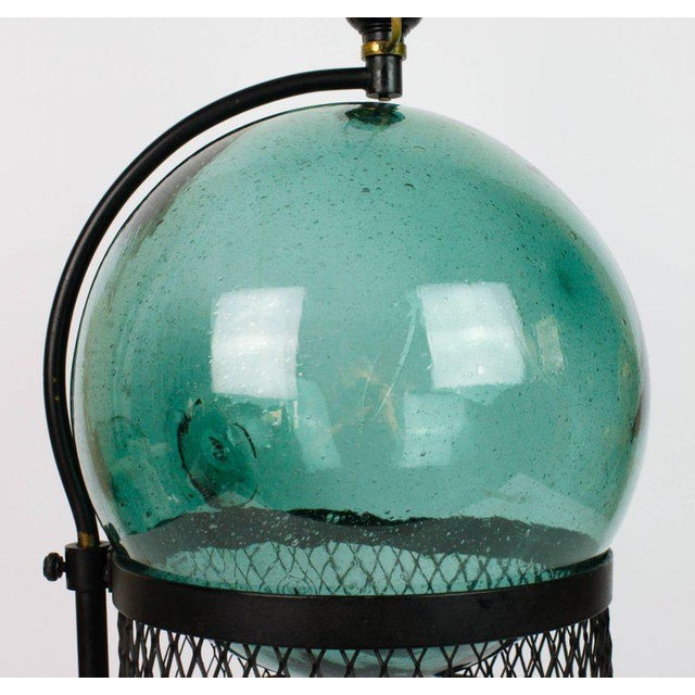 Mid-Century Japanese Fishing Float Lamp For Sale - Image 12 of 13