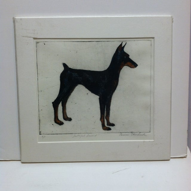 """""""Faithful Friend"""" Signed Artist's Proof Print by Carmen Sherbeck For Sale In Pittsburgh - Image 6 of 6"""