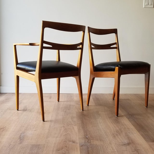 1950s 1953 Newly Upholstered Drexel Declaration Collection Dining Chairs - Set of 6 For Sale - Image 5 of 13