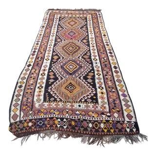 Antique Anatolian Kilim Rug - 4′7″ × 12′1″