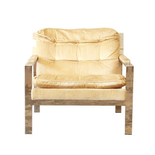 Cy Mann Mid-Century Modern Chrome Lounge Chair For Sale