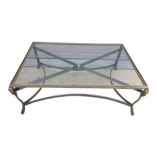 20th Century Neoclassical Rams Head Coffee Table For Sale
