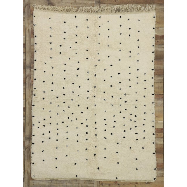 Textile Berber Moroccan Rug Inspired by Yayoi Kusama Polka Dots - 07'00 X 09'06 For Sale - Image 7 of 9