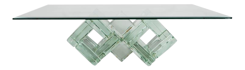 glass block furniture. Mid-Century Double-Diamond Glass Block Cocktail Table By William G. Faber - Furniture R