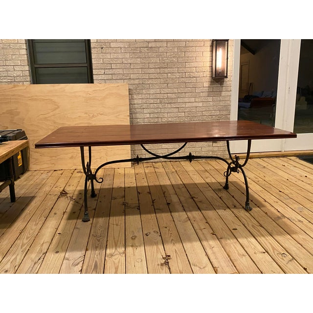Brown Farmhouse Theodore Alexander Dining Table For Sale - Image 8 of 13