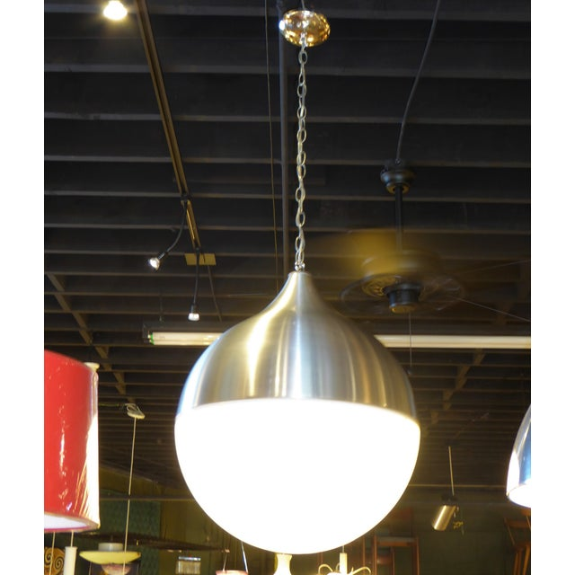 1960s 1960s Danish Modern Aluminun & Acrylic Teardrop Shaped Globe For Sale - Image 5 of 13