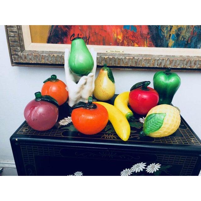 Murano Final Markdown 1960s Italian Murano Art Glass Fruit Sculptures - Set of 11 For Sale - Image 4 of 4