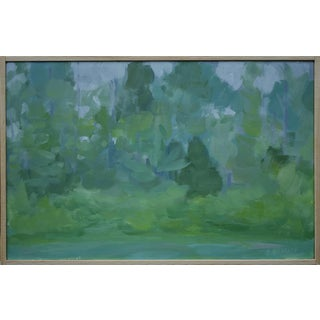 """Misty Morning"", Contemporary Plein Air Painting by Stephen Remick For Sale"