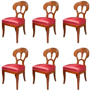 Biedermeier Style Side Chairs - Set of 6 For Sale
