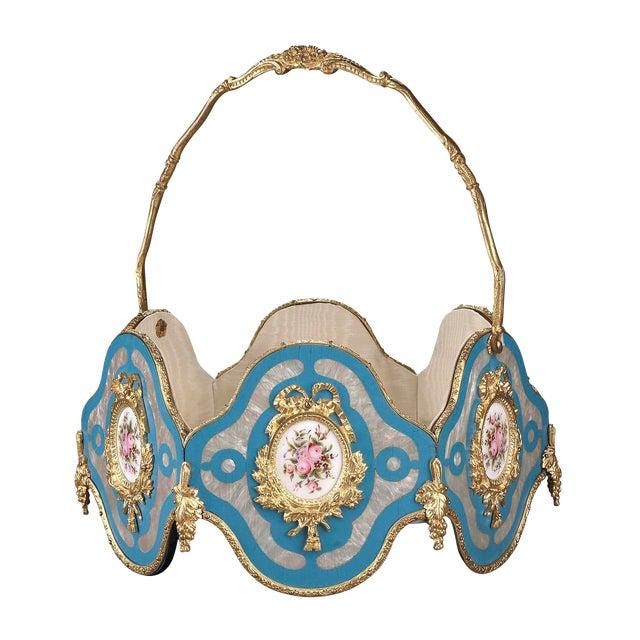 Napoleon III Porcelain Basket For Sale