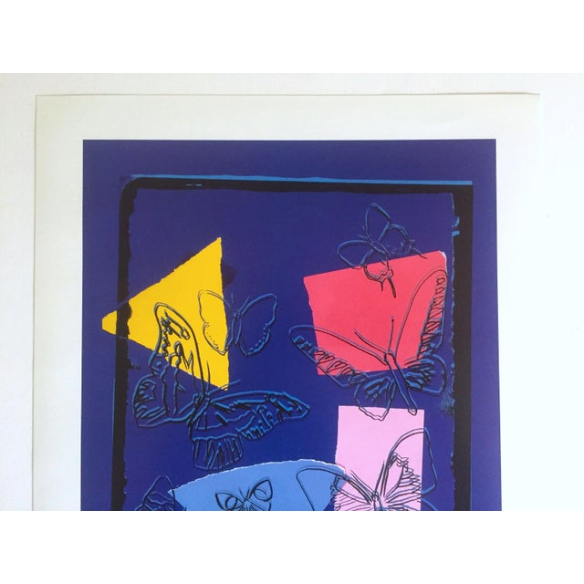 """This Andy Warhol Estate very rare vintage 1991 """" Butterflies - Vanishing Animals """" 1986, collector's offset lithograph..."""