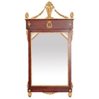 Early 19th Century Neoclassic Pier Mirror For Sale