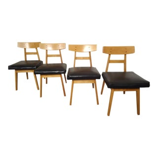 Set of Jens Risom Dining Chairs For Sale