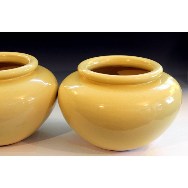 Pair of Pacific Pottery Clay Art Deco Ca La Gladding Bauer Gmb Garden Jar Vases For Sale In New York - Image 6 of 10