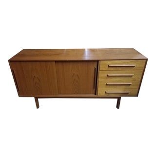 1960s Mid Century Modern Danish Teak Credenza For Sale