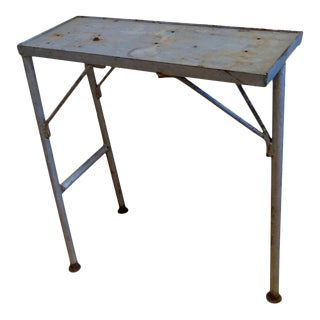 Three-Legged Iron Industrial Table