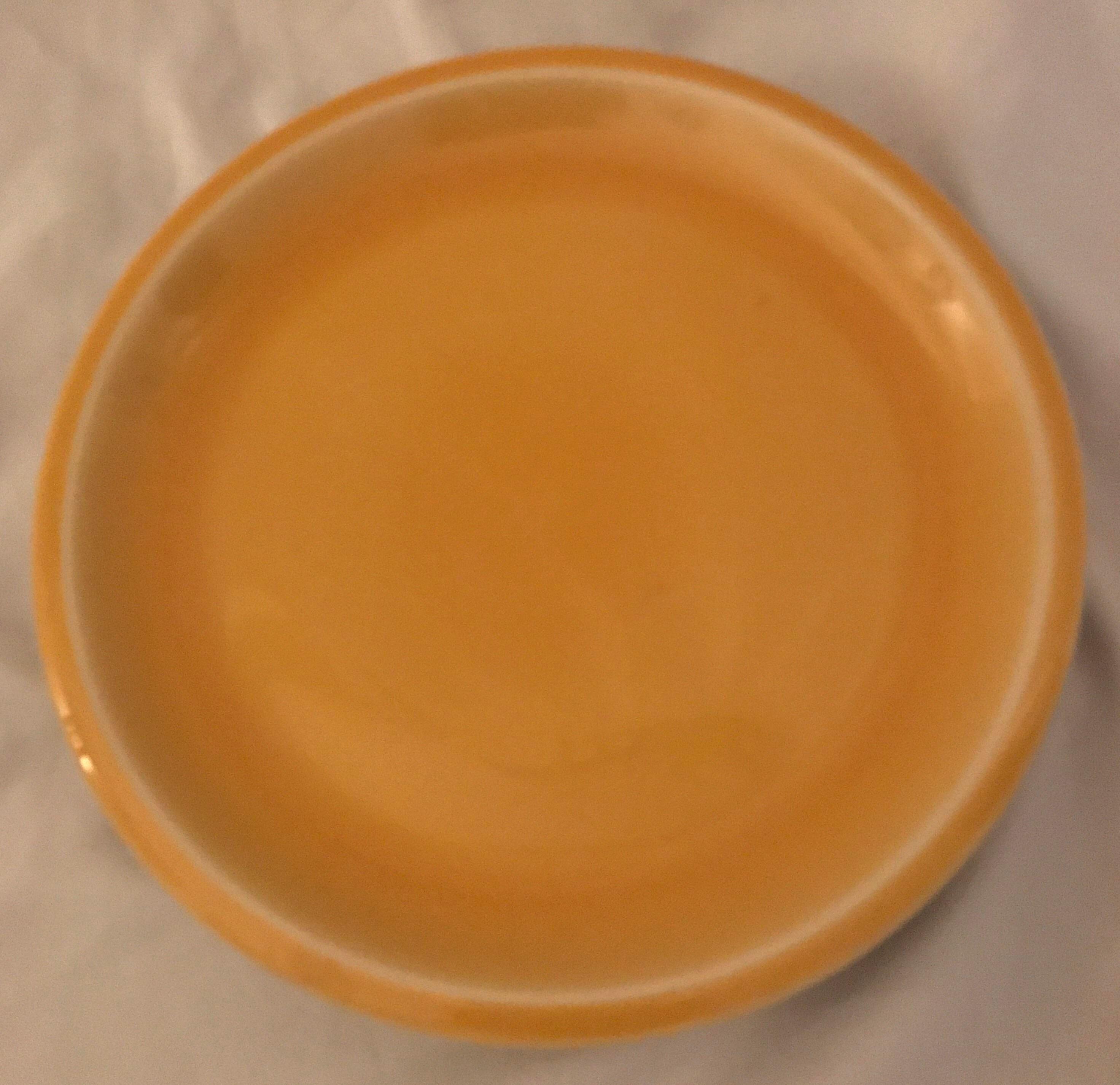 Jars of France Orange Dinner Plates u0026 Yellow Salad Plates - 8 Pieces - Image 6  sc 1 st  Chairish & Jars of France Orange Dinner Plates u0026 Yellow Salad Plates - 8 Pieces ...