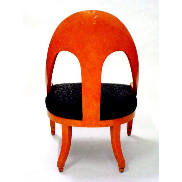 Baker Furniture Company Michael Taylor for Baker Neoclassic Spoonback Chairs - a Pair For Sale - Image 4 of 9