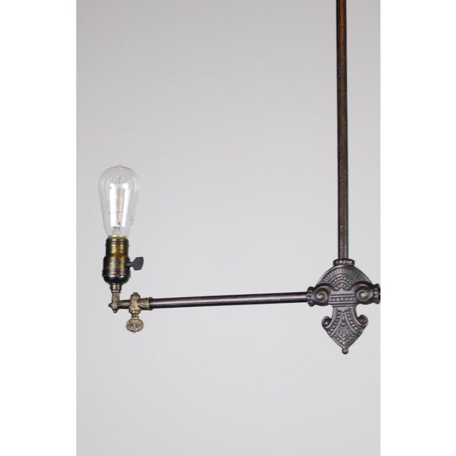 Original Industrial Gas Light Fixture Circa 1885 by Archer & Pancoast - Image 7 of 7