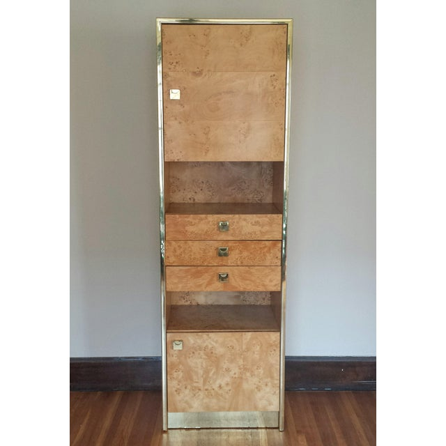 Founders Brass and Burl Storage Unit - Image 9 of 9
