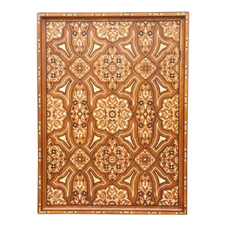 Fascinating Agra Brass and Bone Inlay Wall Panel For Sale