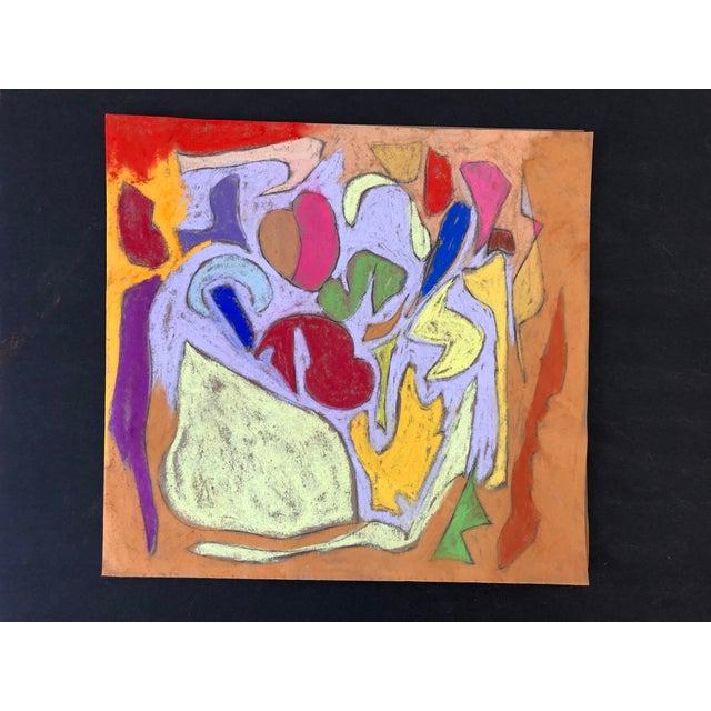 Abstraction no.104 Original Pastel by Erik Sulander on Paper 12x11, Signed, unframed