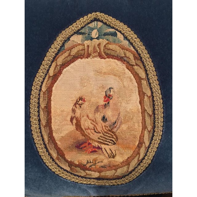 French French 18th Century Aubusson Tapestry Pillow For Sale - Image 3 of 11