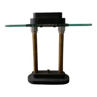 Post Modern Robert Sonneman for George Kovacs Style Bankers Light Desk Lamp For Sale