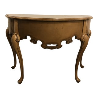 Lorts Tan Demilune Table For Sale