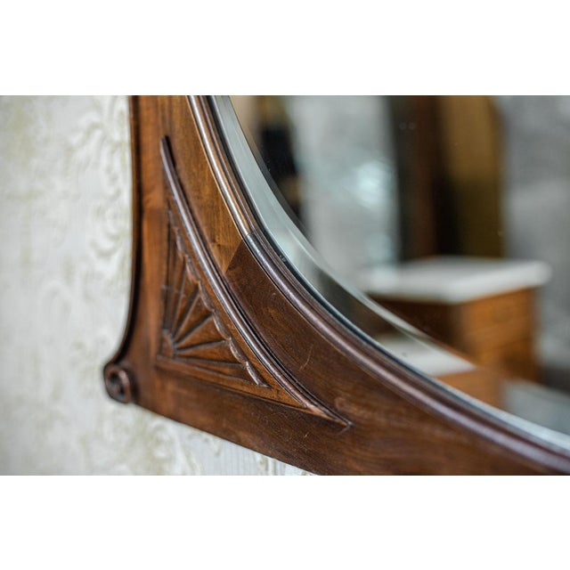 Brown 20th-Century Crystal Mirror in a Wooden Frame (1927) For Sale - Image 8 of 13