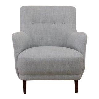 Baby Blue Vintage Scandinavian Side Chair