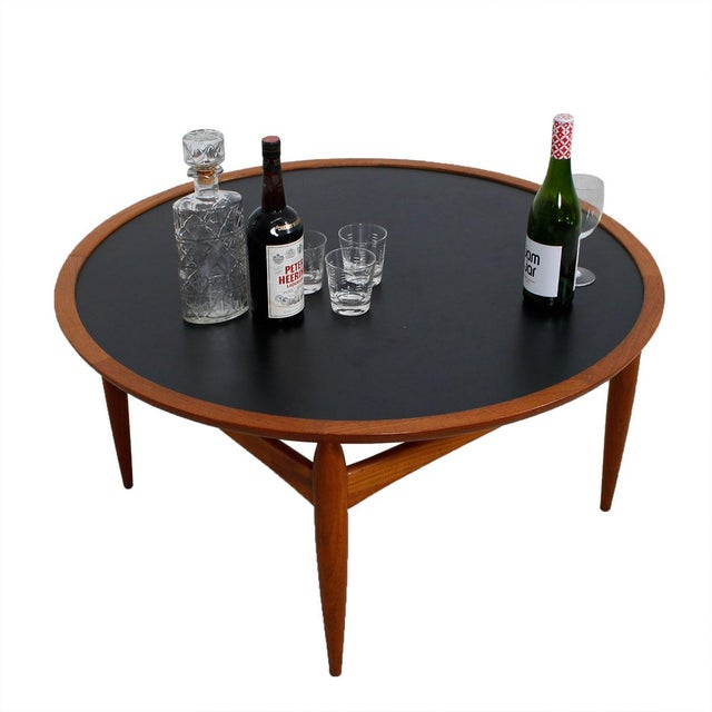 Danish Modern Teak Finn Juhl Style Reversible Coffee Table - Image 9 of 10