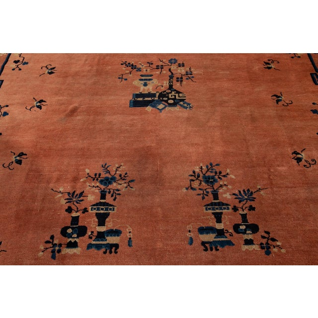 Early 20th Century Antique Art Deco Chinese Wool Rug 9 X 15 For Sale - Image 9 of 13