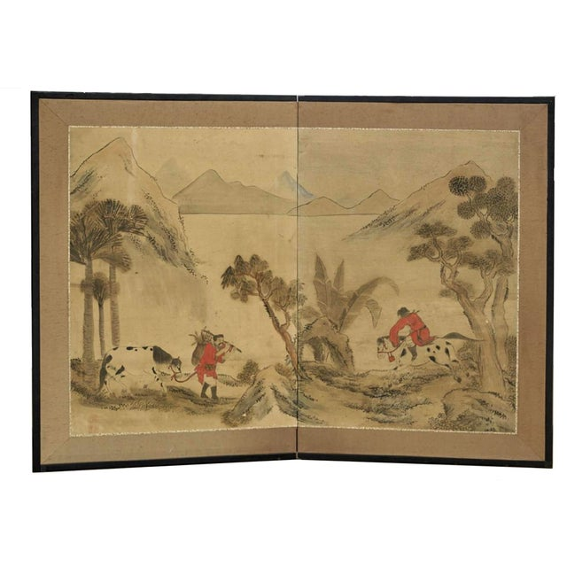 Antique Chinese Paper Screen - Image 7 of 7
