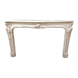 Louis XV Limestone Mantel