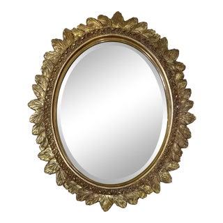 Leaf Design Gold Mirror Frame For Sale
