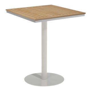 "34"" Square Outdoor Bar Table, Natural For Sale"