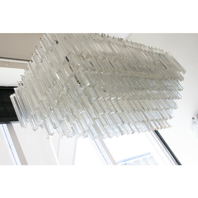 Mid 20th Century Venini Triedri Rectangular Chandelier For Sale - Image 5 of 6