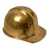 Image of Vintage Brass Hardhat Helmet For Sale