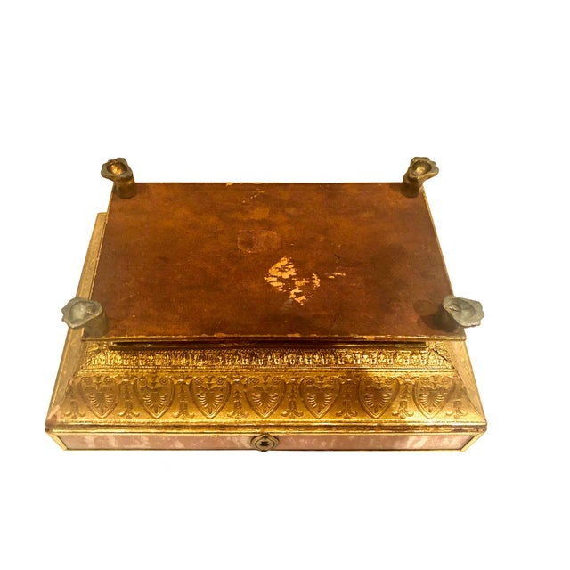Glass Early 19th Century Neoclassical Style Work Box For Sale - Image 7 of 9