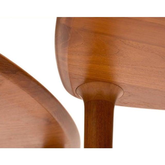 Teak DUX Mid-Century Teak Guitar Pick Tables - A Pair For Sale - Image 7 of 9