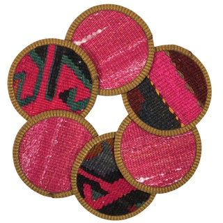 Kilim Coasters Set of 6 | Beyazıt For Sale