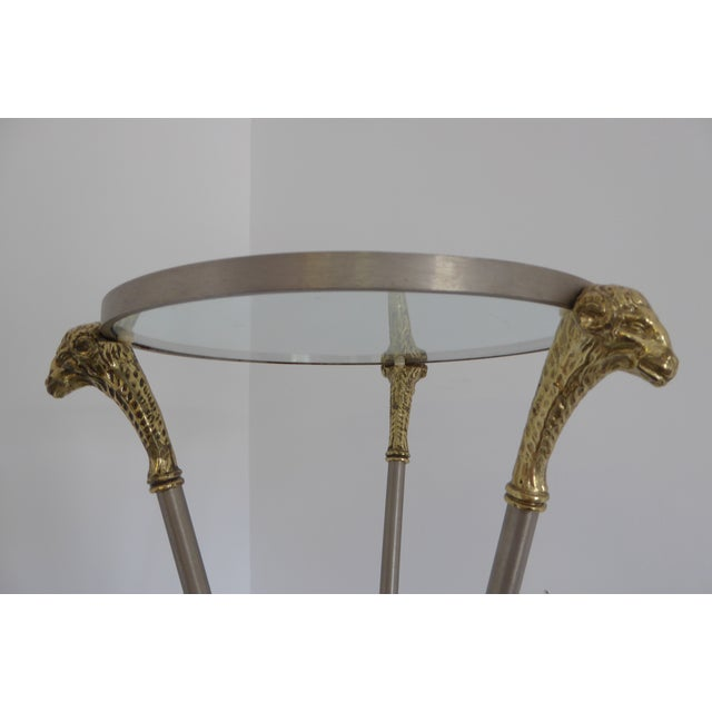Maison Jansen 1970s Hollywood Regency Maison Jansen Pedestal Side Table For Sale - Image 4 of 6