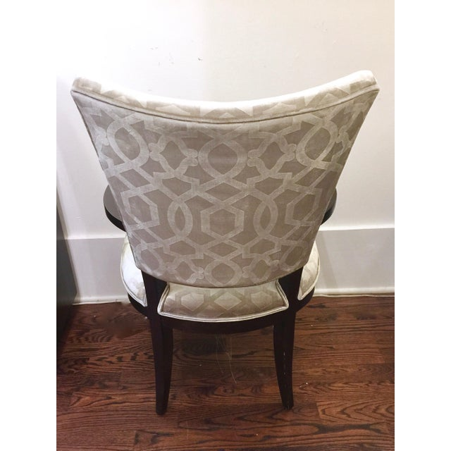 Century Furniture Silver Velvet Transitional Chairs - A Pair - Image 3 of 5