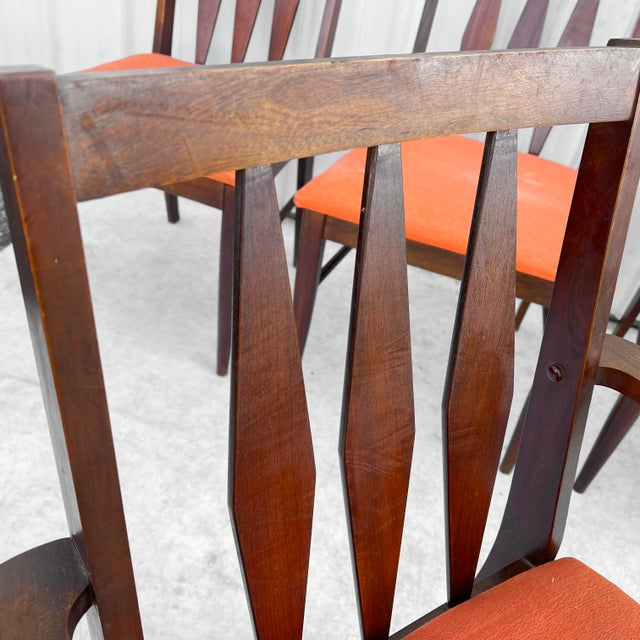 Mid-Century Modern Dining Set With Five Chairs For Sale In New York - Image 6 of 13