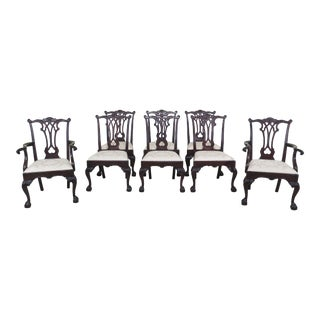 1990s Vintage Stickley Ball & Claw Chippendale Mahogany Dining Chairs- Set of 8 For Sale