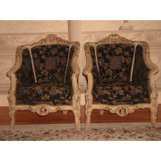 18th Century Art Nouveau Hand-Carved Arm Chairs - a Pair For Sale - Image 9 of 9
