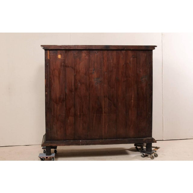 English Large British Colonial Cabinet From the Mid-20th Century of Dark Ebonized Wood For Sale - Image 3 of 12