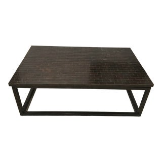 20th Century Brutalist Tile Top Coffee Table For Sale