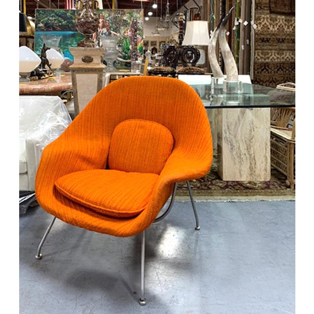 Eero Saarinen Womb Chair With Original Upholstery and Steel Frame For Sale - Image 10 of 12